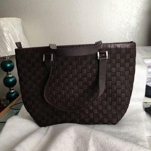 Anika Woven Brown Hand Bag Ex Large